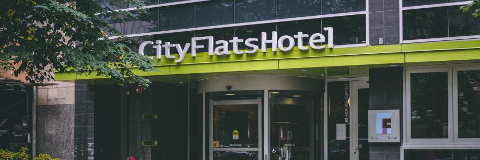 Cityflats hotel welcome hero