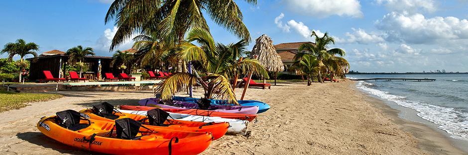 Hopkins bay resort hero kayaks hero
