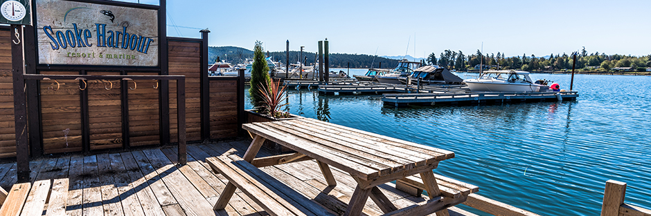 Sooke harbour resort and marina welcome hero hero