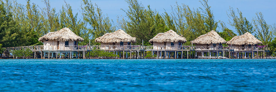 Thatch caye resort hero bungalos hero