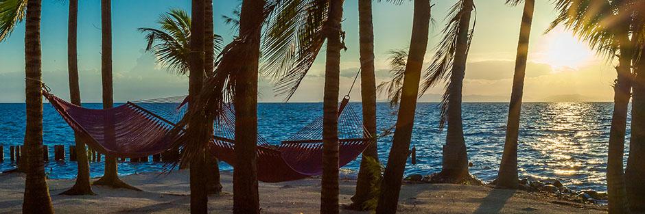Thatch caye resort hero hammocks hero