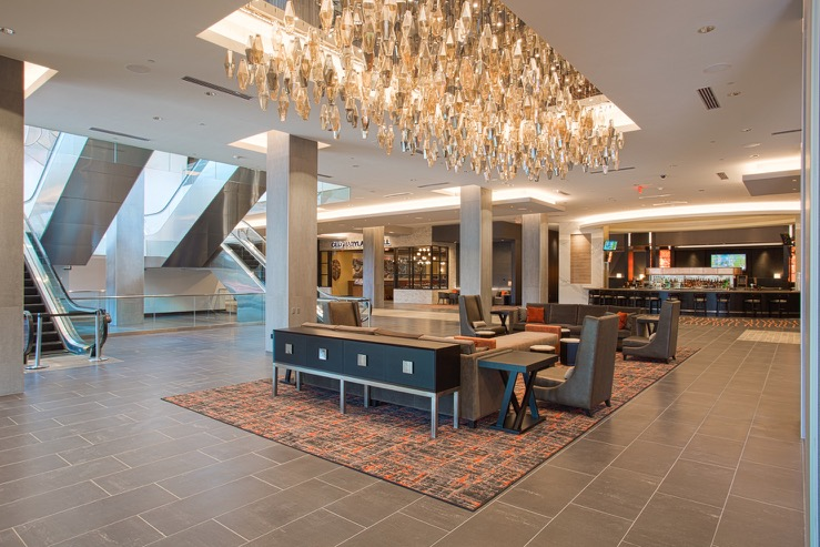 The hotel at th university of maryland lobby chandelier hpg