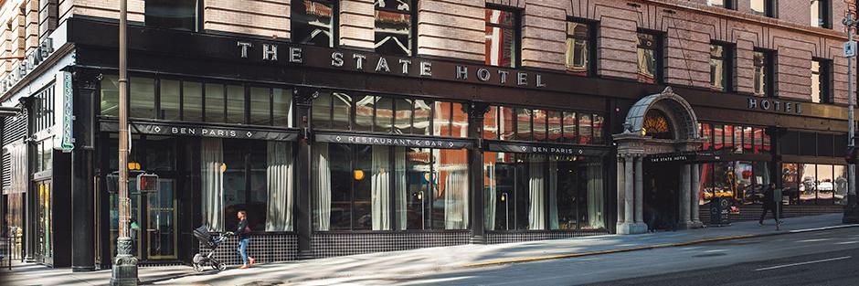 The state hotel exteriorhero hero