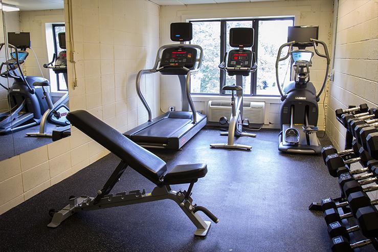 University inn fitness room hpg